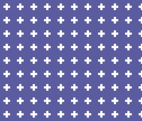 blue iris cross + fabric by misstiina on Spoonflower - custom fabric