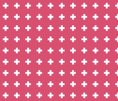 honeysuckle cross + fabric by misstiina on Spoonflower - custom fabric
