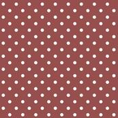 marsala polka dots