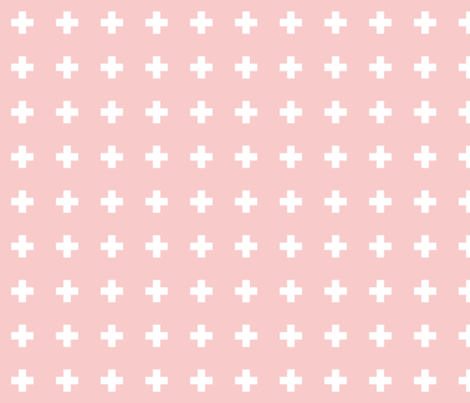 rose quartz cross + rose fabric by misstiina on Spoonflower - custom fabric