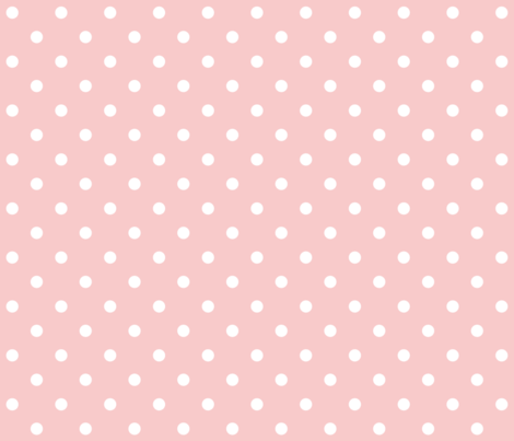 rose quartz polka dots fabric by misstiina on Spoonflower - custom fabric