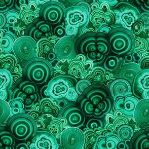 Malachite Swirls in Emerald Garden