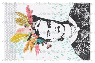 Frida's Cantina Tea Towel (coral)