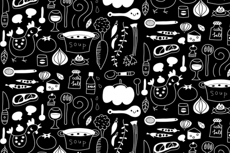 Our favourite family recipe: Soup fabric by bora on Spoonflower - custom fabric