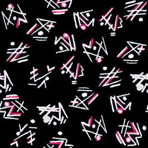 Alien Cuneiform Pattern - Rev Pink