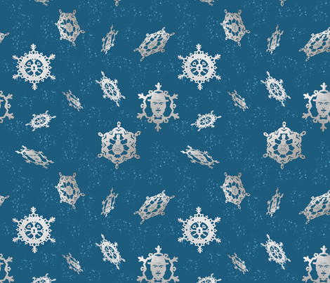 Mystery Snow fabric by kellyklages on Spoonflower - custom fabric