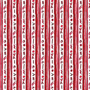 Alien Cuneiform Stripe - Red