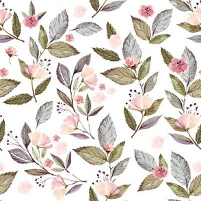 "8"" Spring Floral Petal Pink Mix and Match Print"