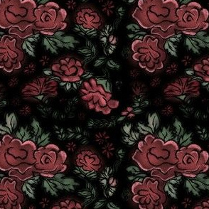Project 413 | Cottage Rose on Dark Background
