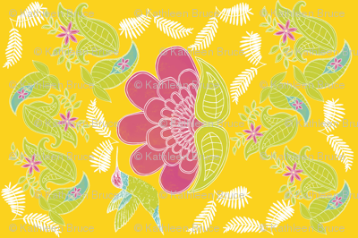 Botanical Paisley Block Print