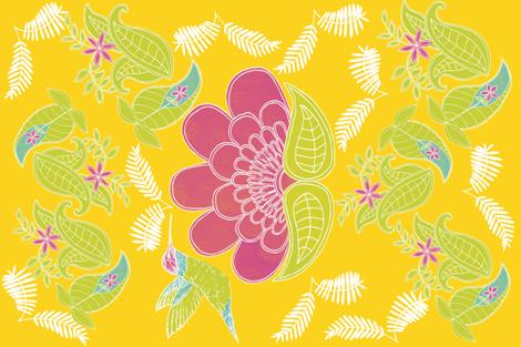 Botanical Paisley Block Print fabric by kathleenbruceillustration on Spoonflower - custom fabric