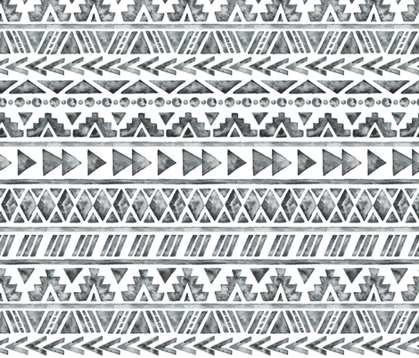 Grunge Tribal fabric by hipkiddesigns on Spoonflower - custom fabric