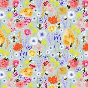 Bees & mediterranean Flowers
