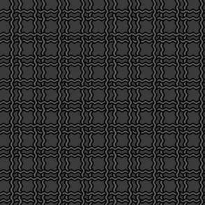 squiggle plaid2 - black+charcoal