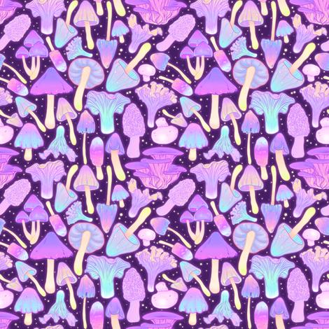 Spooky Mushroom Hunt fabric by paisleyhansen on Spoonflower - custom fabric