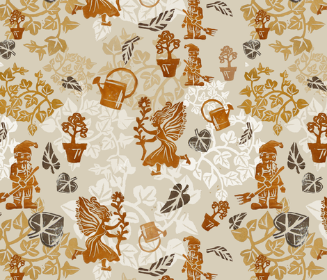 Garden Cleaning October 17 fabric by herbal_things on Spoonflower - custom fabric