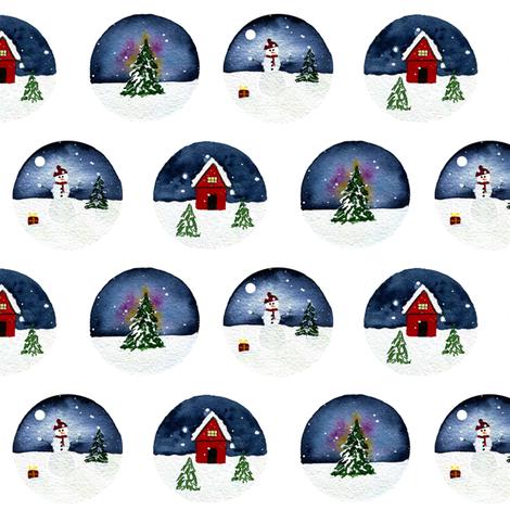 Christmas Trio fabric by sweetseasonsart on Spoonflower - custom fabric