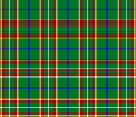 "Canadian Caledonian tartan, 6"" fabric by weavingmajor on Spoonflower - custom fabric"