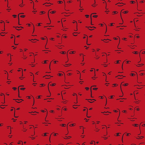 faces 2 - red