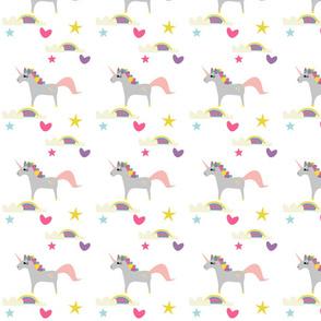 Unicorn and rainbow´s white