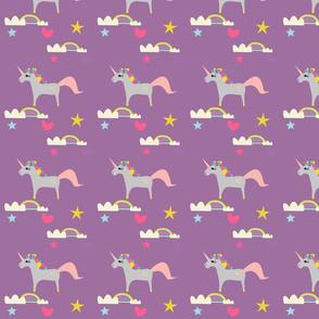 Unicorn and rainbow´s purple
