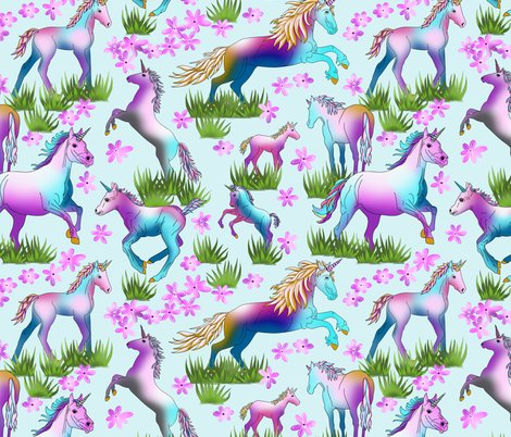 Unicorns_on_pale_turq_shop_preview