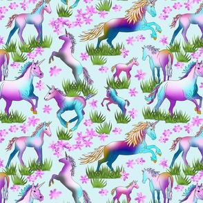 Unicorns_on_Pale_Turq