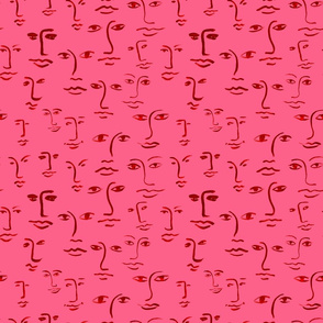 faces 2 - hotpink