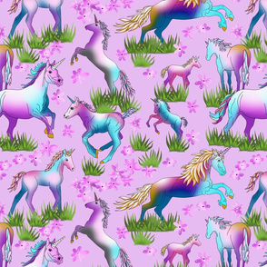 Unicorns_on_Pale_Lilac