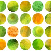 Watercolor Dots - Citrus