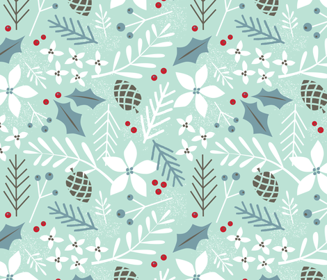 evergreen spearmint fabric by shindigdesignstudio on Spoonflower - custom fabric