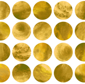 Watercolor Dots - Gold