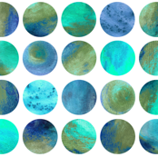 Watercolor Dots - Turquoise