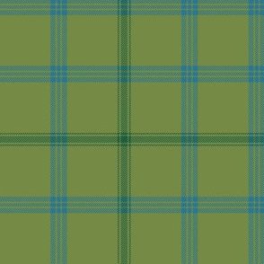 "Connacht/Connaught Irish District tartan #2, 6"" green"