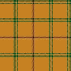 "Connacht/Connaught Irish District tartan #2, 6"" gold"