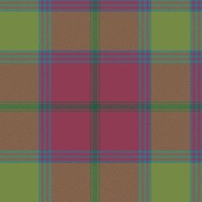 "Connacht/Connaught Irish District tartan #1, 6"" rose/olive"