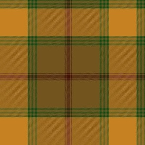 "Connacht/Connaught Irish District tartan #1, 6"" gold/brown"