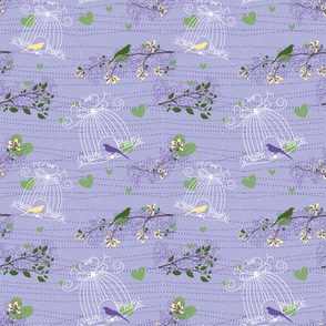 Filigree Birdcages - 4in (lilac)