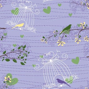 Filigree Birdcages - 8in (lilac)