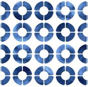 Watercolor Rings - Navy Blue