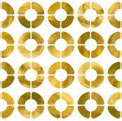 Watercolor Rings - Gold
