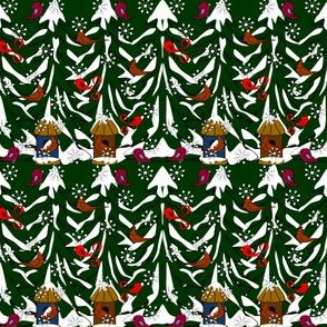 Morning Walk Karl Woodland Santa Fabric Collection