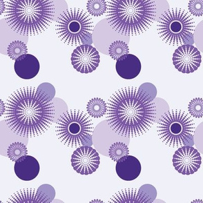 Sparkling Circles - 4in (purple)