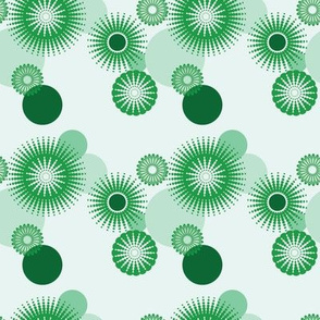Sparkling Circles - 4in (green)