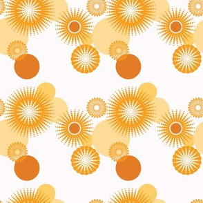 Sparkling Circles - 4in (orange)