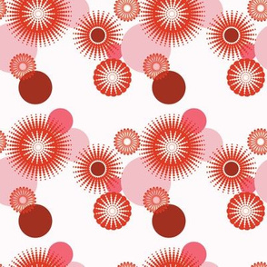 Sparkling Circles - 4in (red)