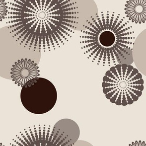 Sparkling Circles - 8in (brown)