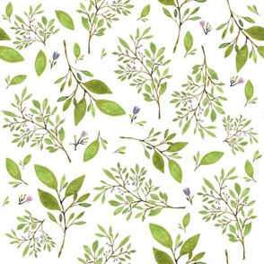 """8"""" Floral Fawn Branches & Scattered Blooms"""