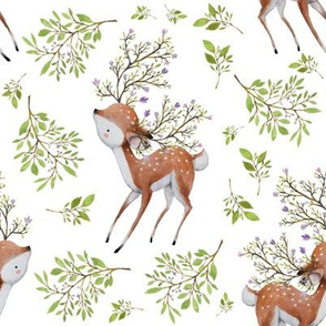 """8"""" Floral Fawn with Extra Branches"""