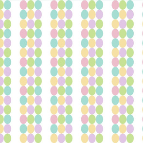 Small pastel ovals